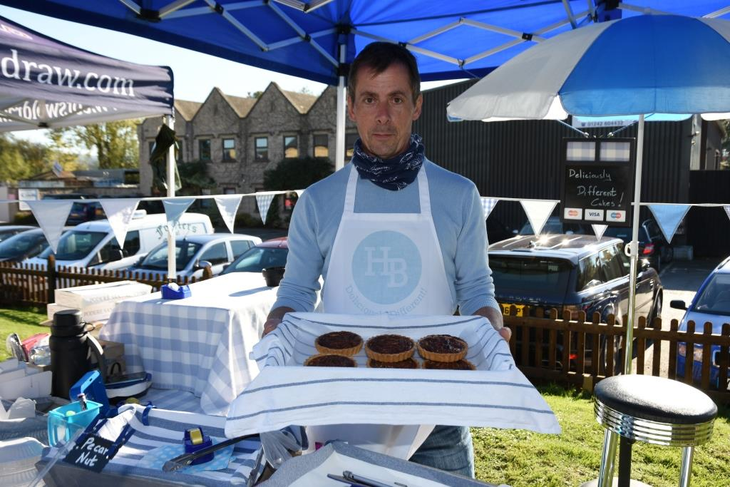 Stephen with his cakes